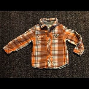 Oshkosh flannel button down size 3T